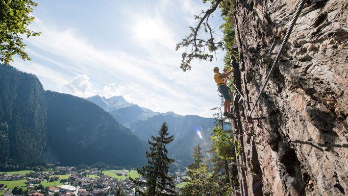 Klettersteig Nasenwand : Klettersteig touren mit bergführer